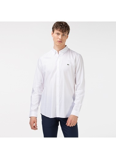 Lacoste Erkek Slim Fit Gömlek CH1843F.001 Beyaz